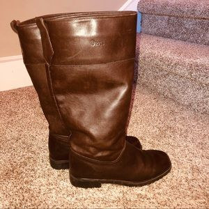 Orvis Brown Tall Leather Calf Length Boots Riding